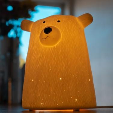 3D Ceramic Bear Lamp