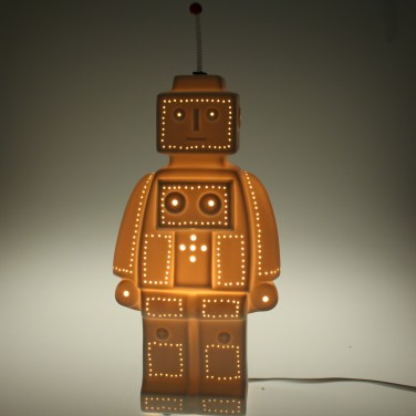 Porcelain Robot Night Light