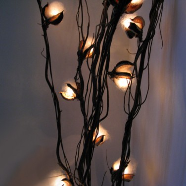 lighting twigs. cotton flower twig lights 3 lighting twigs
