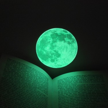 Small glow moon light wall stickers