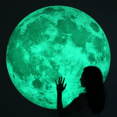 Extra Large Glow In The Dark Moon Light Wall Stickers