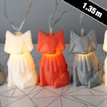 Origami Fox String Lights