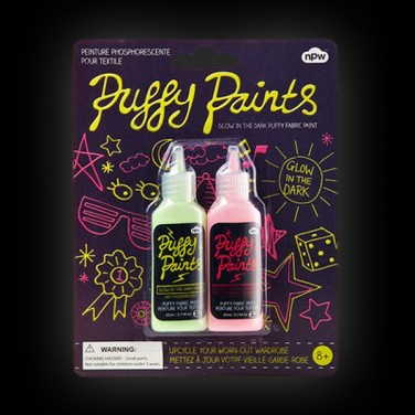 Twinpack Glow Puffy Paints
