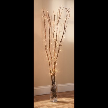 Lit Twig Lights
