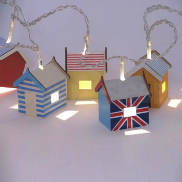 Beach hut lights next