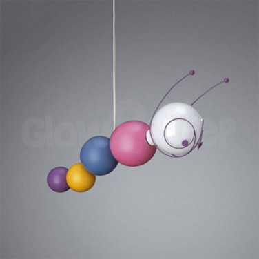 Ruby Caterpillar Ceiling Light