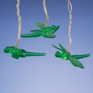 Battery Operated Green Dragonfly Lights
