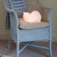 Bone China Cat Lamp