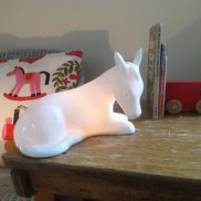 Bone China Pony Lamp