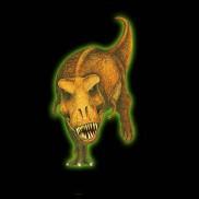 Glow 3d Trex Sticker