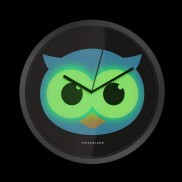 Glow in the Dark Owl Clock