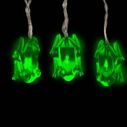 Green Frog Battery String Lights