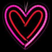 Neon Lights Hanging LED Heart